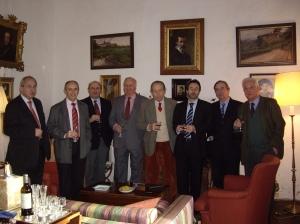 Miembros de la Asociación Bidasoa, en la última reunión que celebramos en el palacio de Laurgain