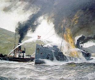 Representación gráfica de la Batalla de Matxitxako