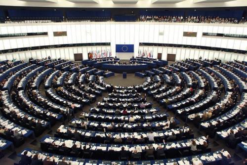Salón de plenos del Parlamento Europeo